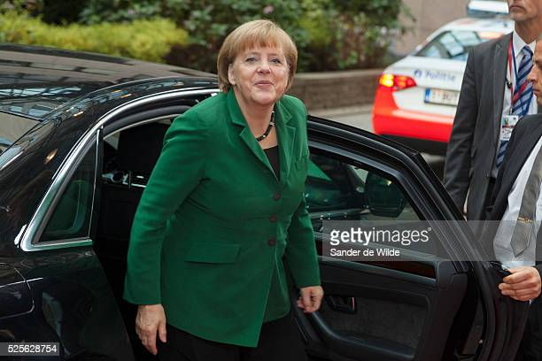 German Chancellor Angela Merkel arrives at an EU summit in Brussels on Friday, Oct. 19, 2012. European leaders have taken a step towards the creation...