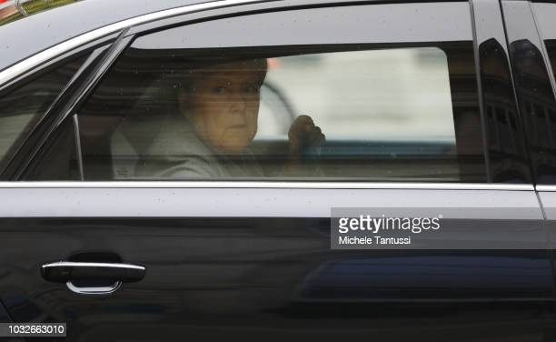 German Chancellor Angela Merkel arrives for a session of the German Parliament or Bundestag on September 13 2018 in Berlin Germany Relations within...