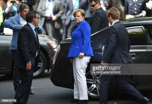 German Chancellor Angela Merkel arrives for the Summit of the Heads of State and of Government of the G7 the group of most industrialized economies...