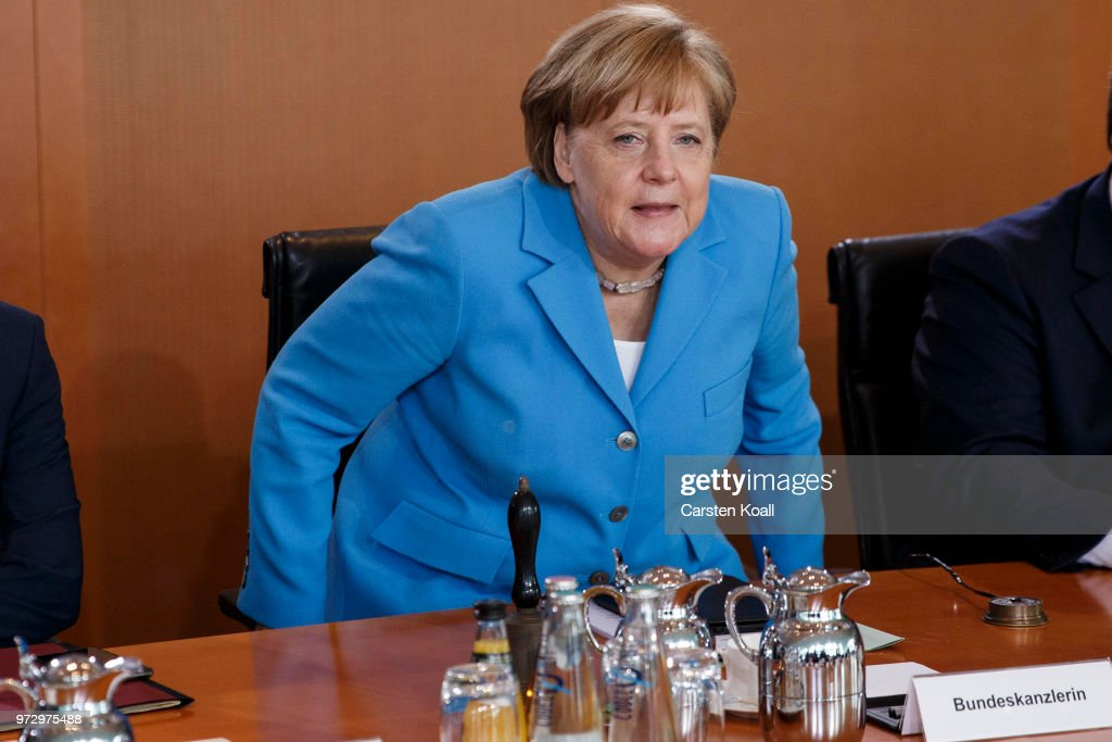 German Chancellor Angela Merkel arrives for the weekly government cabinet meeting on June 13, 2018 in Berlin, Germany. High on the morning's agenda is labour legislation intended to ease workers' transition from part-time to full-time work.