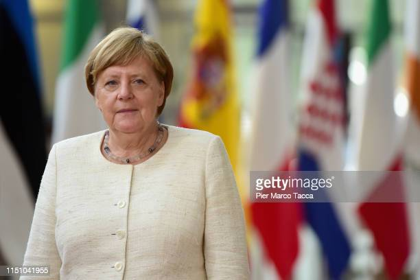 German Chancellor Angela Merkel arrives the Heads of State at the EU Summit on June 20, 2019 in Brussels, Belgium.