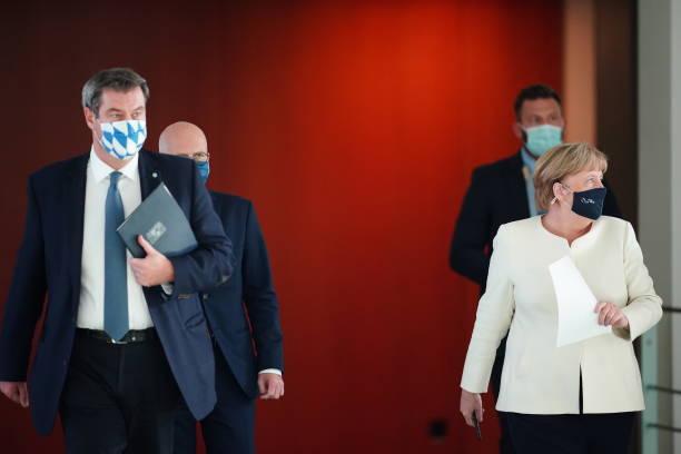 DEU: Merkel Speaks Following Meeting With Governors