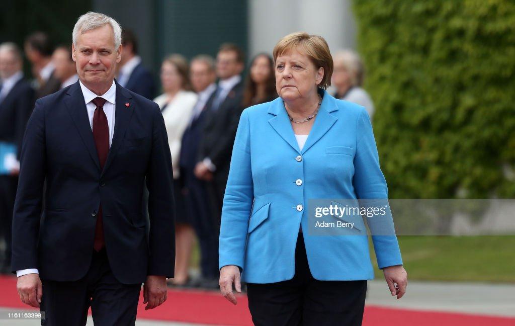 New Finnish Prime Minister Antti Rinne Visits Berlin : Nachrichtenfoto