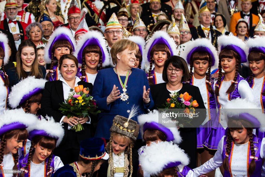 DEU: German Chancellor receives German carnival societies in Berlin