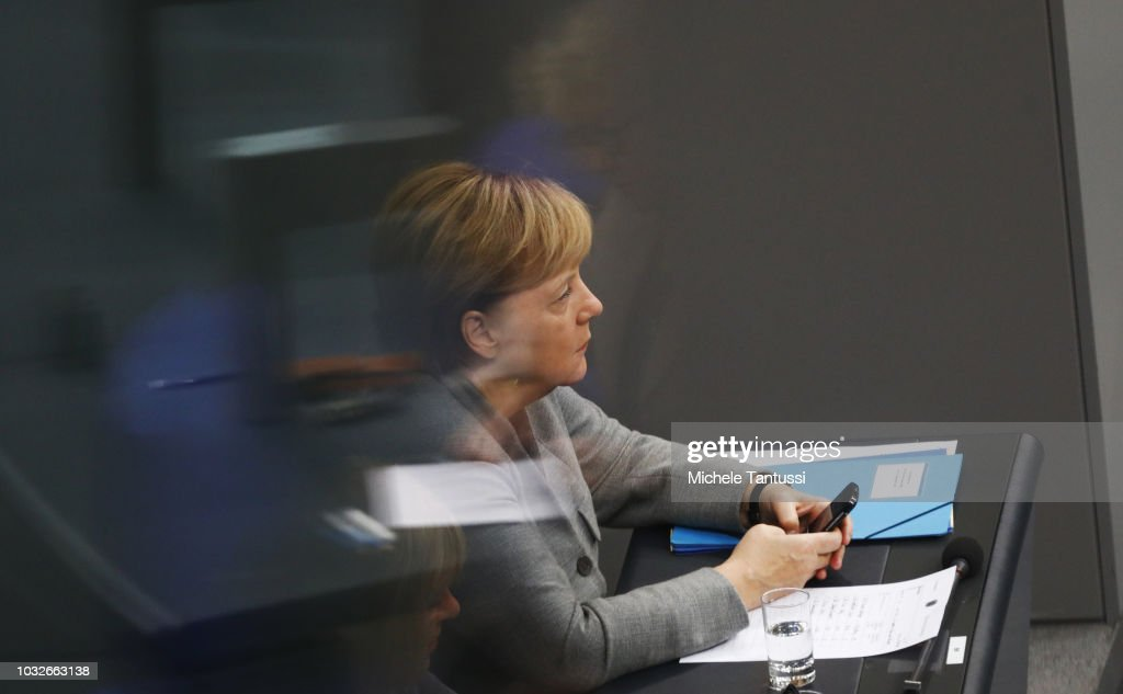Bundestag Debates Chemnitz Consequences For Second Day : News Photo