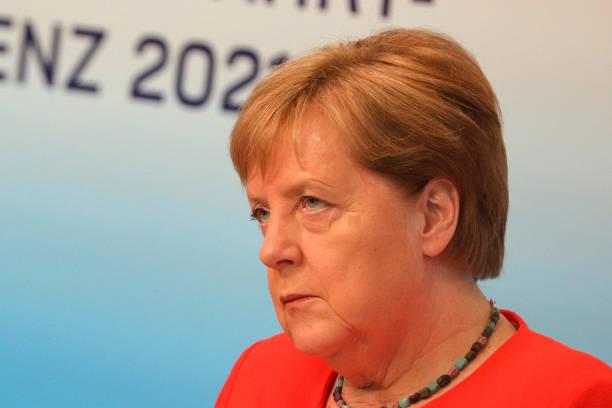 DEU: Merkel Speaks Virtually At Aviation Conference