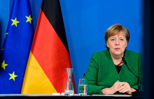 DEU: Merkel Holds Video Conference With Communal Enterprises