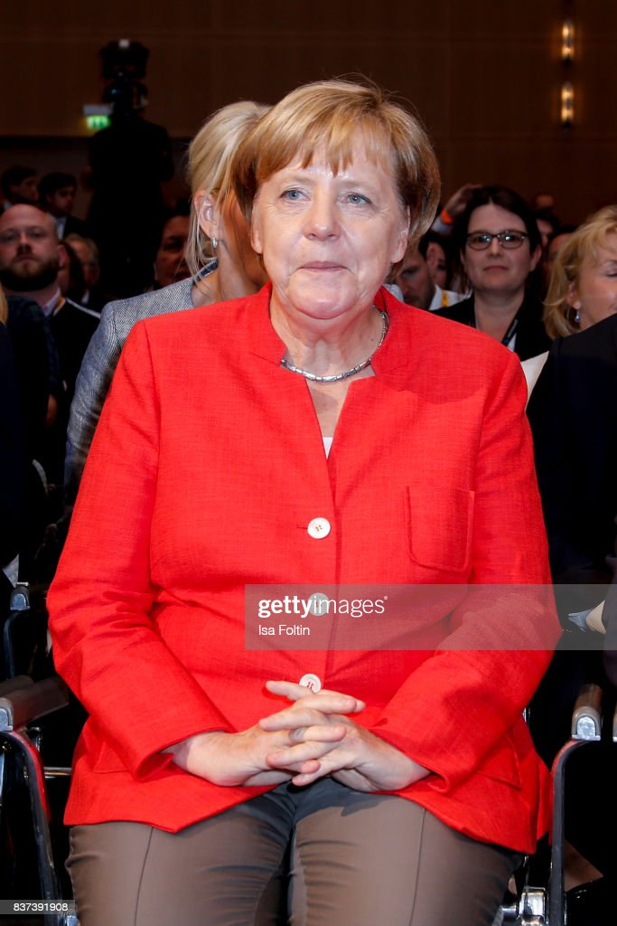 German Chancellor Angela Merkel (CDU) attends the opening of the Gamescom 2017 gaming trade fair on August 22, 2017 in Cologne, Germany. Gamescom is the world's largest digital gaming trade fair and will be open to the public from August 22-26.