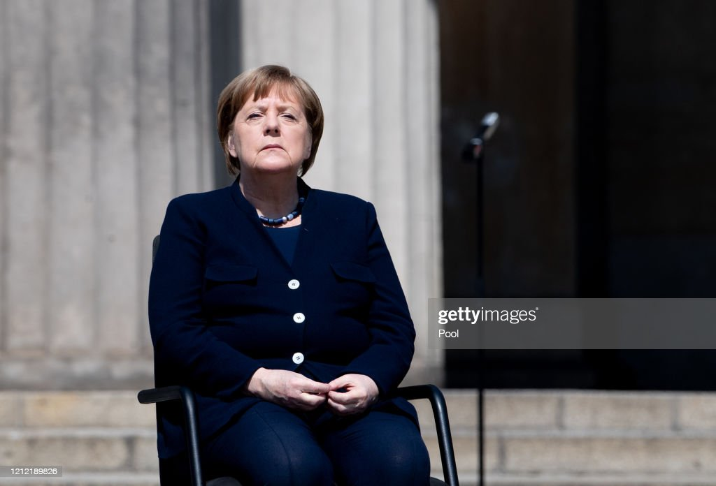 End Of World War II Commemorations Take Place In Berlin During The Coronavirus Crisis : News Photo