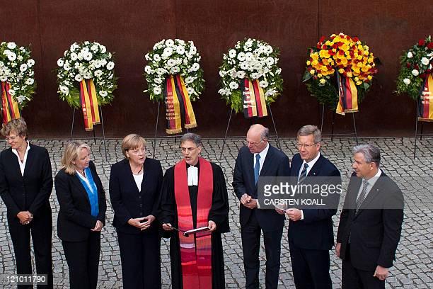 German Chancellor Angela Merkel , Berlin's Major Klaus Wowereit , Germany's President Christian Wulff and State premier of North-Rhine Westphalia...