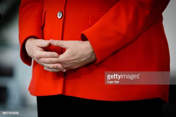 German Chancellor Angela Merkel captured in the chancellery on July 05 2018 in Berlin Germany