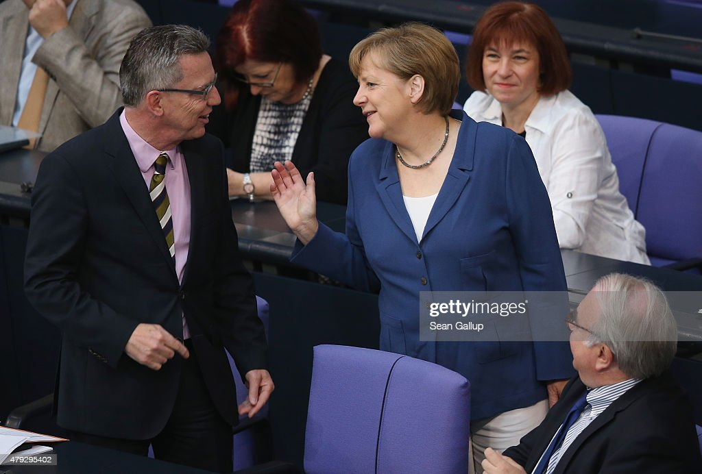Merkel Attends Bundestag Session As Greece Prepares For Referendum