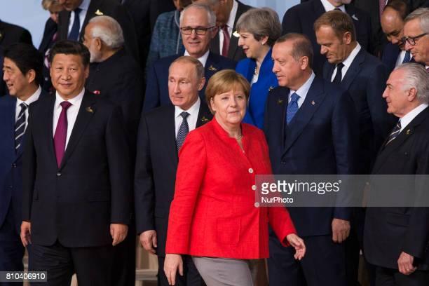 German Chancellor Angela Merkel Chinese President Xi Jiping Russian President Vladimir Putin British Prime Minister Theresa May Turkish President...