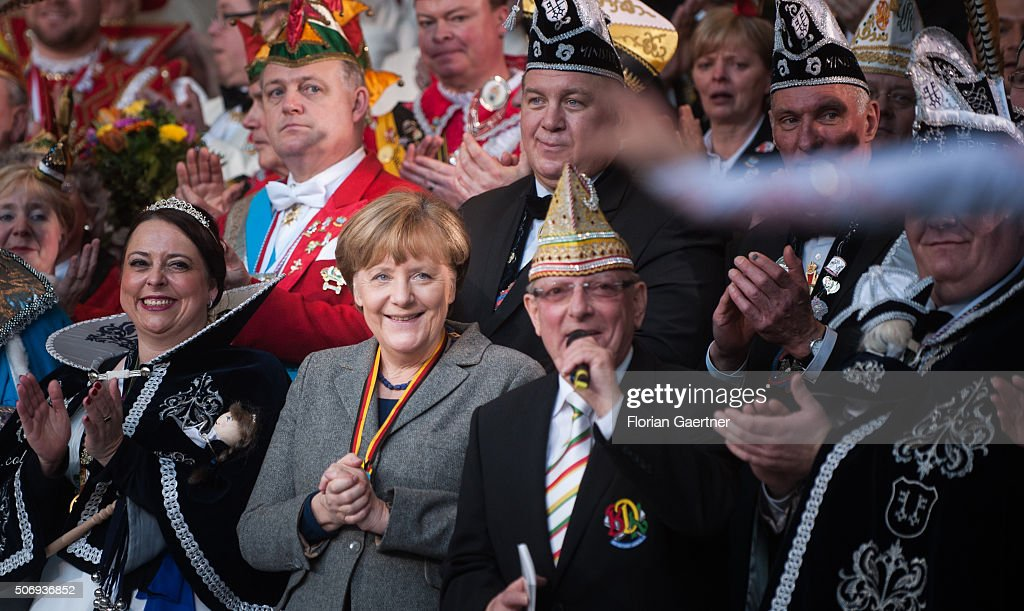German Chancellor Merkel Meets With Royal Couples Of Carnival : News Photo