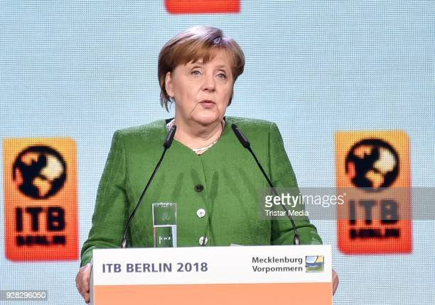 German Chancellor Angela Merkel during the ITB Opening Gala on March 6 2018 in Berlin Germany