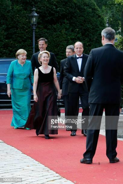 German chancellor Angela Merkel, Dutch Prime Minister Mark Rutte, German Defence Minister Ursula von der Leyen, Angela Merkels husband Joachim Sauer...
