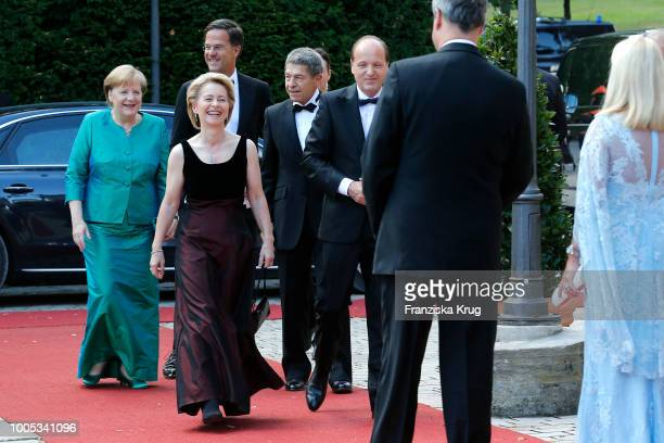 German chancellor Angela Merkel Dutch Prime Minister Mark Rutte German Defence Minister Ursula von der Leyen Angela Merkels husband Joachim Sauer and...