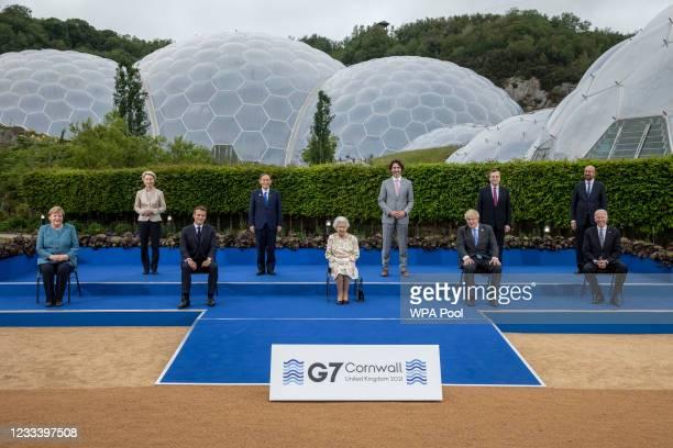 German Chancellor Angela Merkel, European Commission Ursula von der Leyen, French President Emmanuel Macron, Japanese Prime Minister Yoshihide Suga,...