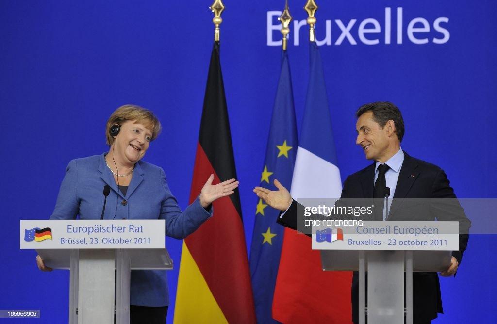 BELGIUM-FINANCE-ECONOMY-PUBLIC-DEBT-EU-SUMMIT : News Photo