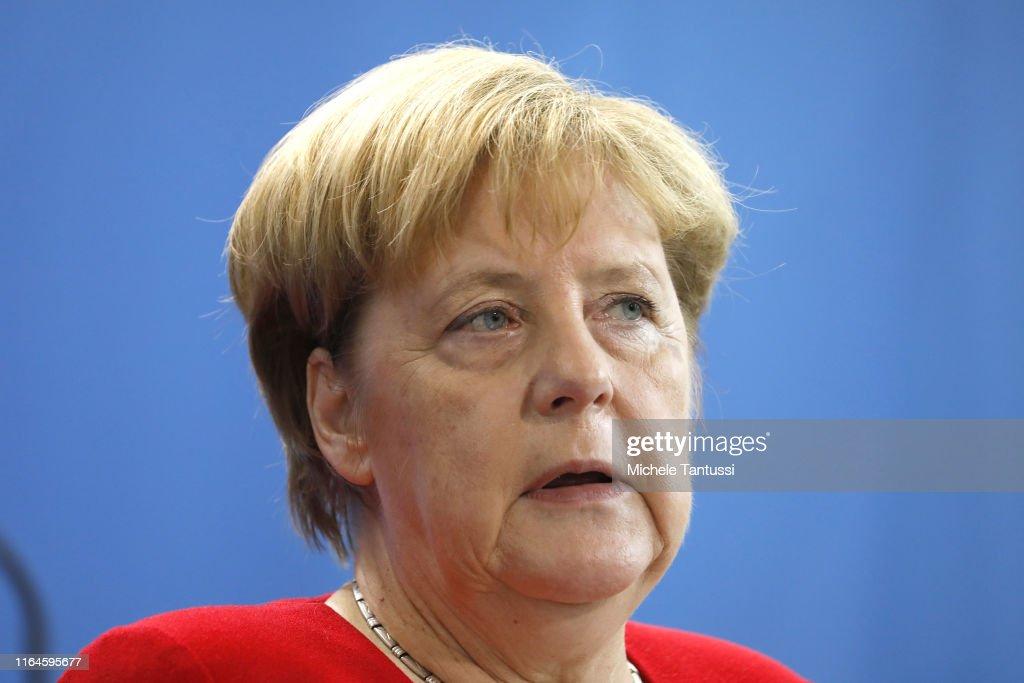 Mahmoud Abbas Meets With Angela Merkel In Berlin : News Photo