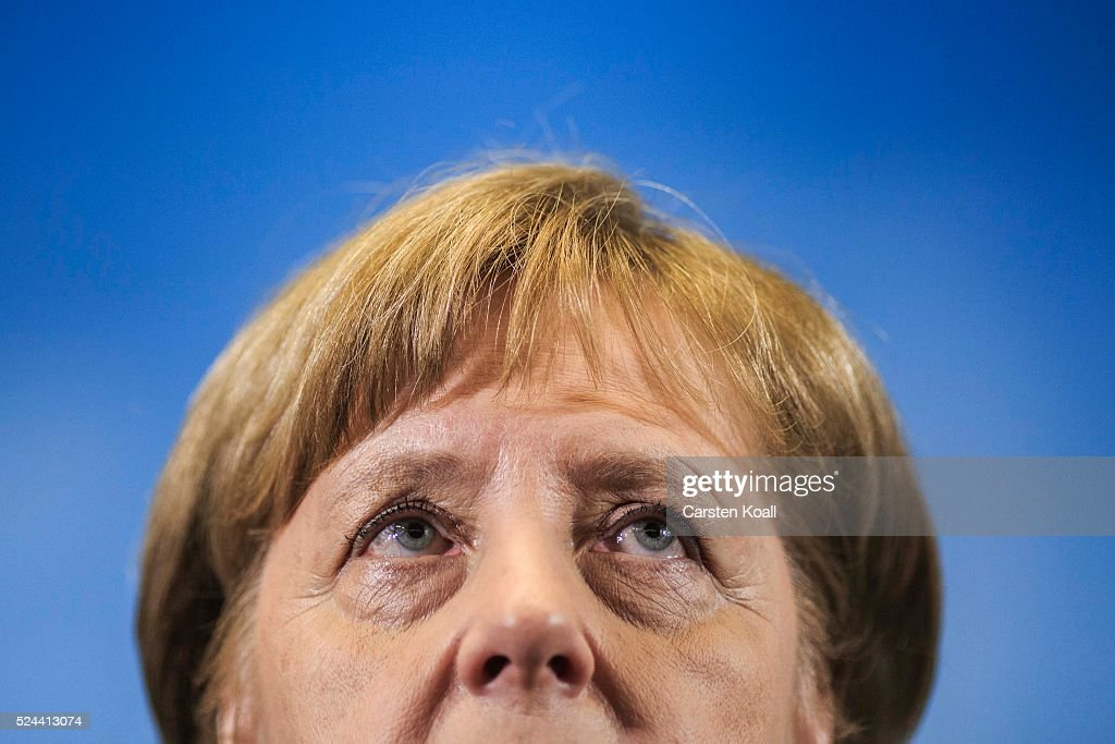 Angela Merkel Visits Anti-Terror Center : News Photo