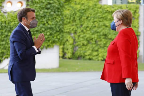 DEU: Merkel And Macron Meet In Berlin