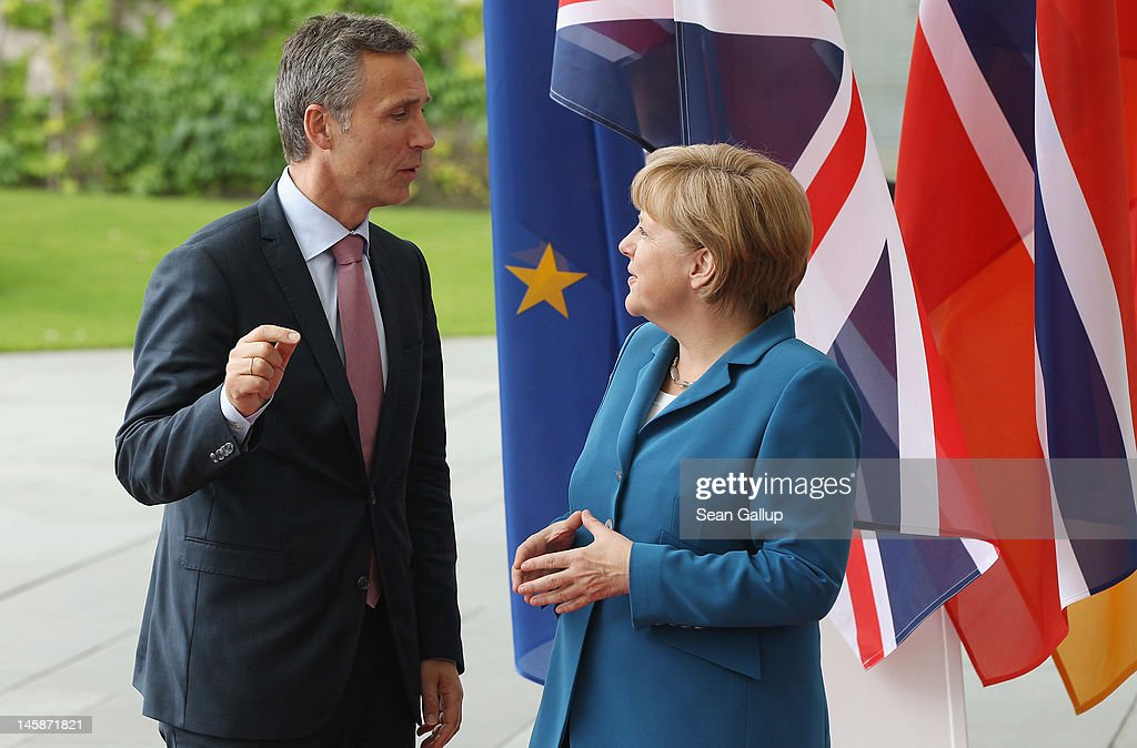 Cameron, Merkel And Stoltenberg Attend Student Conference