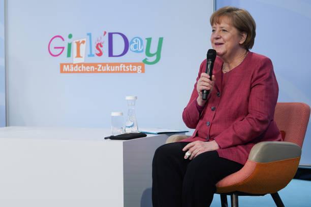 DEU: Merkel Holds Virtual Girl's Day