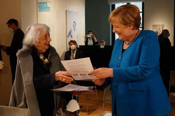 DEU: Merkel Receives Margot Friedlaender Award