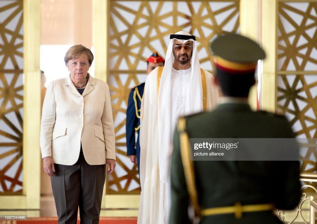 Chancellor Merkel travels to Abu Dhabi : News Photo