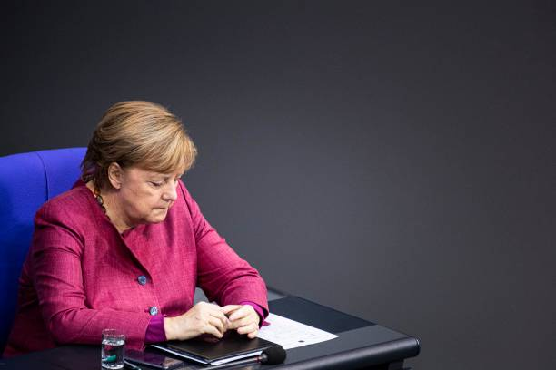 DEU: Government Declaration At German Bundestag