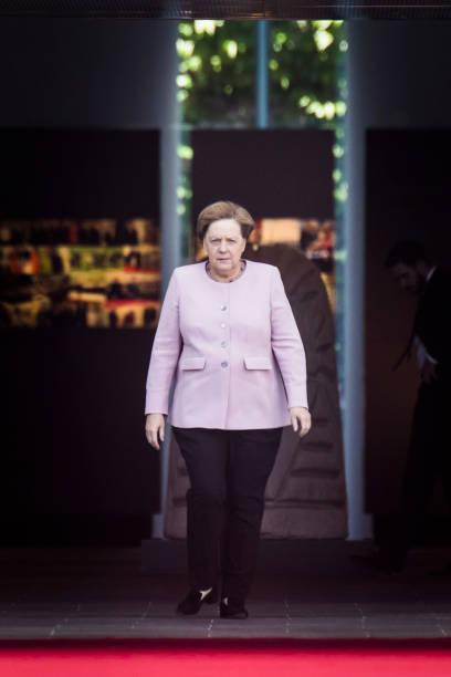 DEU: German Chancellor Angela Merkel Meets Wolodymyr Selenskyj