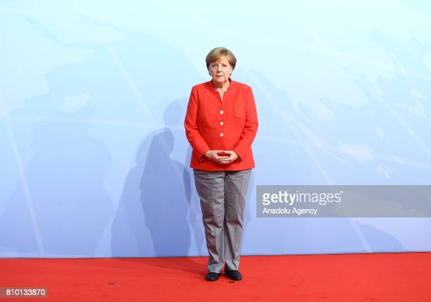 German Chancellor Angela Merkel is seen during G20 Leaders' Summit in Hamburg, Germany on July 07, 2017. Germany is hosting leaders from the worlds...