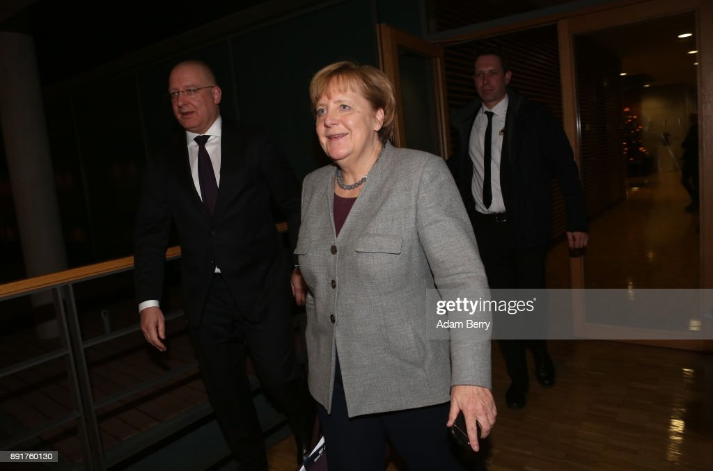 CDU, SPD And CSU Leaders Meet Over Possible Coalition
