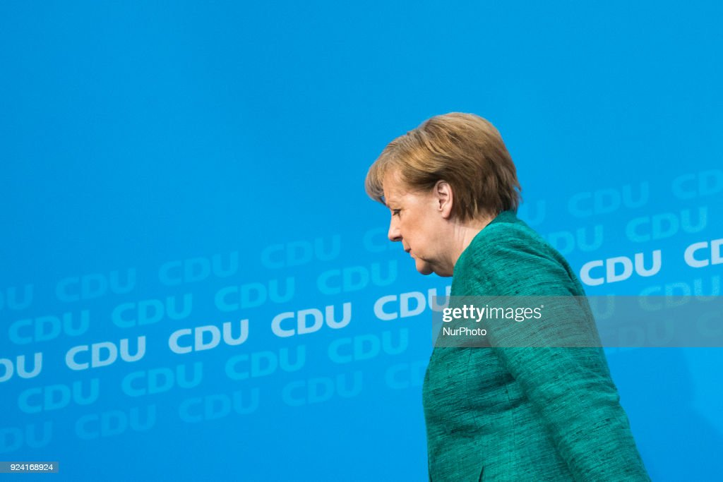 Angela Merkel announces names of possible future Ministers
