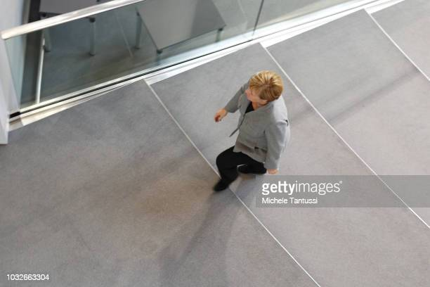 German Chancellor Angela Merkel leaves a session of the German Parliament or Bundestag on September 13 2018 in Berlin Germany Relations within the...