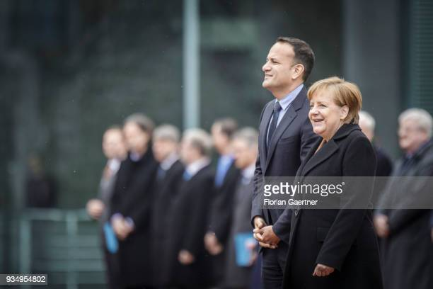 German Chancellor Angela Merkel meets Leo Varadkar Prime Minister of Ireland at the German Chancellery on March 20 2018 in Berlin Germany