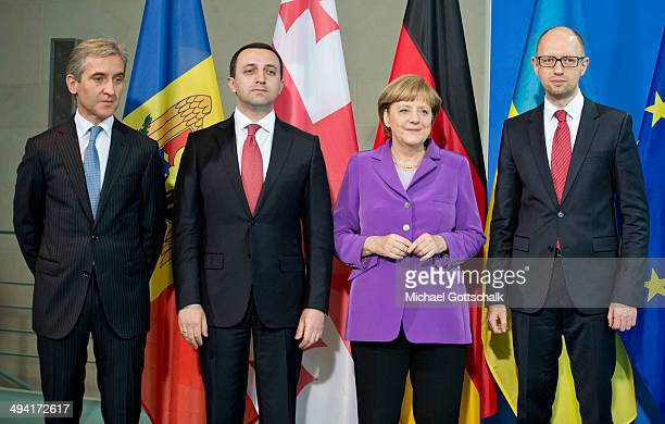German Chancellor Angela Merkel meets with the Prime Minister of Georgia, Irakli Garibaschwili, Prime Minister of Moldova, Iurie Leanca and Prime...