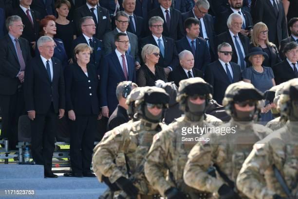 German Chancellor Angela Merkel Polish Prime Minister Mateusz Morawiecki Polish politician Jaroslaw Kaczynski US National Security Advisor John...