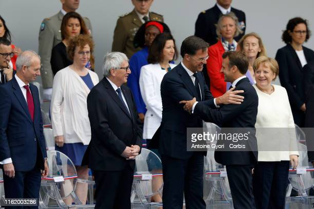 German Chancellor Angela Merkel Portugal's President Marcelo Rebelo de Sousa French President Emmanuel Macron and his wife Brigitte Macron attend the...