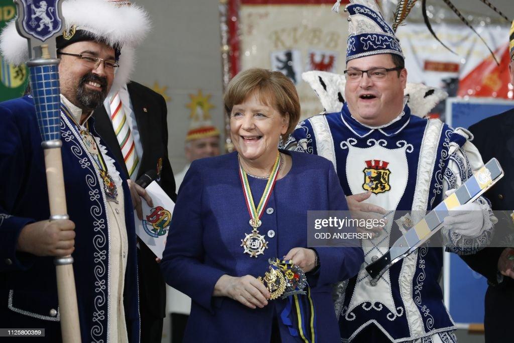 DEU: Angela Merkel Receives Carnival Pairs