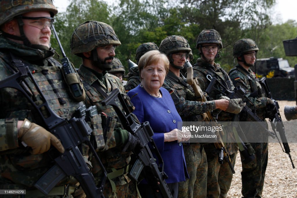 DEU: Merkel Visits VJTF Bundeswehr Armoured Brigade