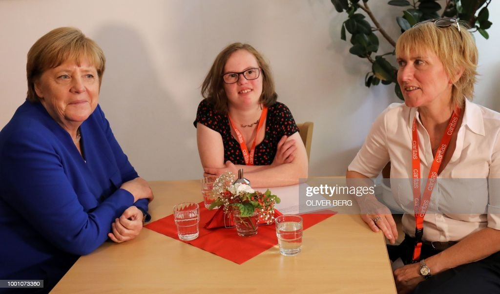 Merkel Meets Natalie Dedreux, Down Syndrome Patient