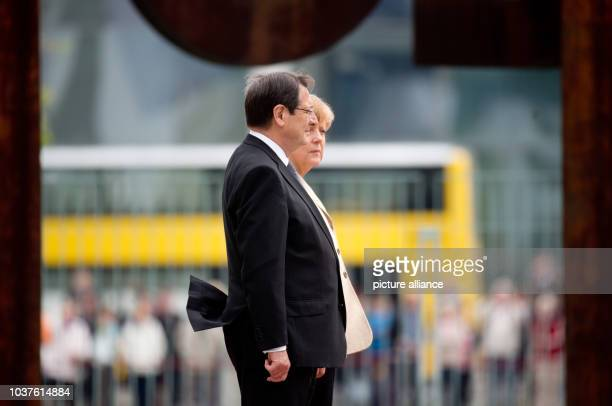 German Chancellor Angela Merkel receives Cypriot President Nikos Anastasiadis with military honours at the Federal Chancellery in Berlin, Germany, 06...