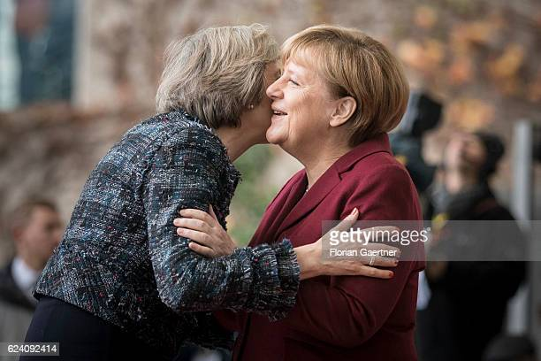 German Chancellor Angela Merkel receives Theresa May Prime Minister of Great Britain on November 18 2016 in Berlin Germany Barack Obama meets with...