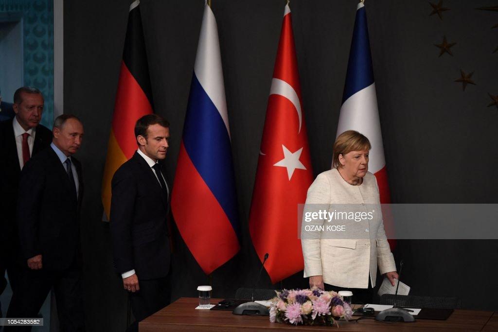 TURKEY-SYRIA-RUSSIA-FRANCE-GERMANY-POLITICS-DIPLOMACY : Nachrichtenfoto