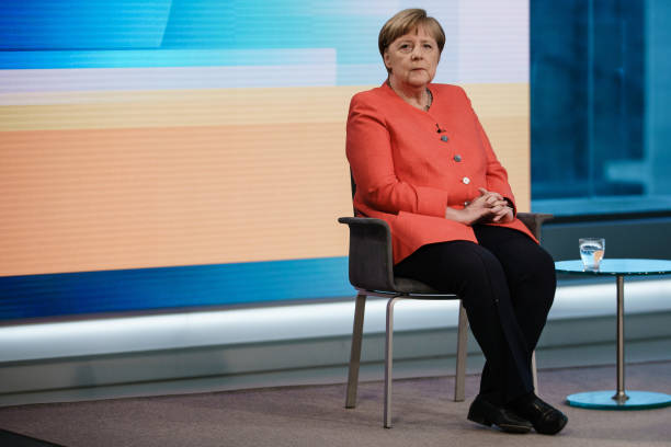 DEU: Merkel Speaks On ARD Television On Corona Aid Package