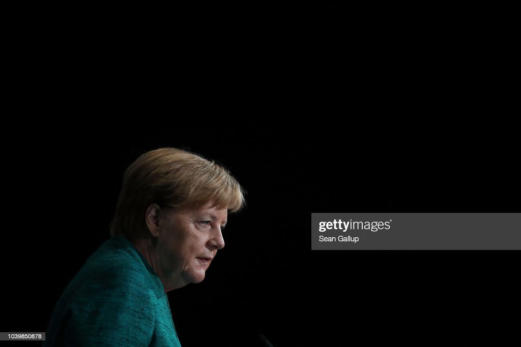 Merkel Speaks At Federation Of Industry Congress