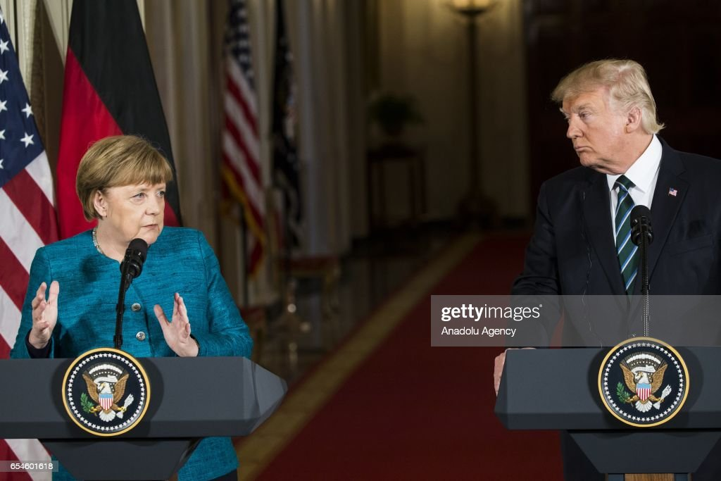 President Trump and Chancellor Merkel press conference in Washington : News Photo