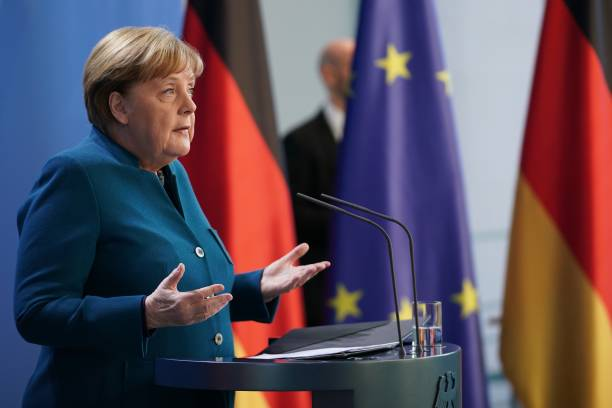DEU: Merkel Announces Further Coronavirus Measures Following Teleconference With State Governors